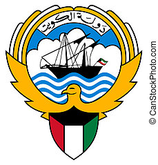 Kuwait Coat of Arms - Kuwait coat of arms, seal or national...