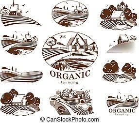 Organic farming design elements. - Vector design elements...