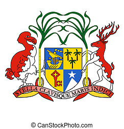 Mauritius Coat of Arms - Mauritius coat of arms, seal or...