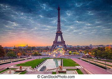 Paris. - Cityscape image of Paris, France with the Eiffel...