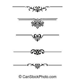 Set of calligraphic design elements and page decor