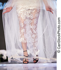 Sofia Fashion Week wedding dress - A female model walks the...