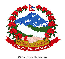 Nepal Coat of Arms - Nepal coat of arms, seal or national...