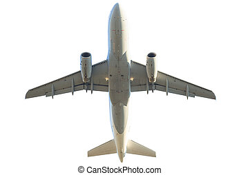 jet isolated on white - passenger commercial jet plane...