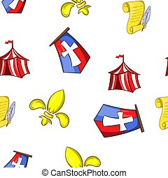 Military middle ages pattern, cartoon style - Military...