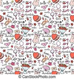 Gift Ideas seamless background - Valentines seamless...