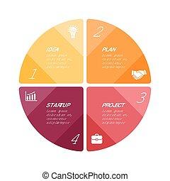 Vector circle arrows infographic - Circle arrows diagram for...