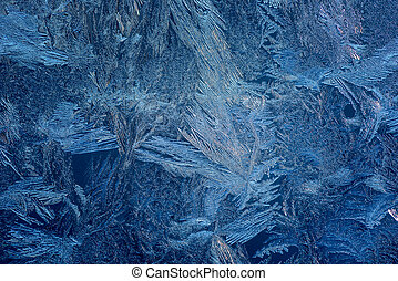 Abstract background hoarfrost - Texture of ice hoarfrost on...
