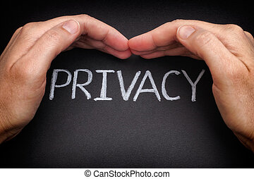 Privacy. Security of personal data. Internet concept. Data...