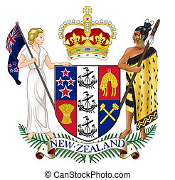 New Zealand Coat of Arms - New Zealand coat of arms, seal or...