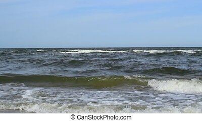 Restless Waves Panned Distance View - Panned distance view...