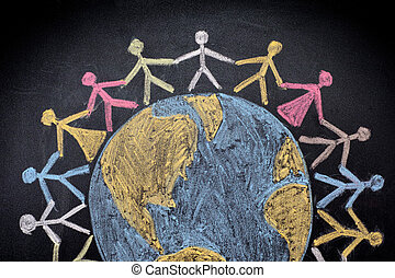Group of people around the world