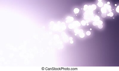Bokeh Particles With Flare Diagonal Left