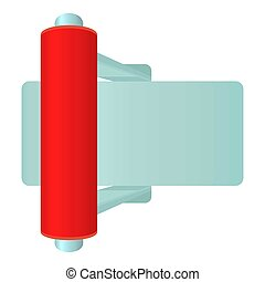 Red toggle switch icon, cartoon style - Red toggle switch...