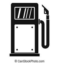 Gasoline pump icon, simple style - Gasoline pump icon....