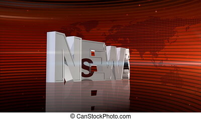 RED NEWS LETTERS - Computer-rendered animation for news TV...