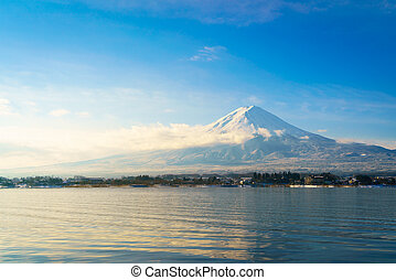 Mountain fuji and lake kawaguchi, Japan