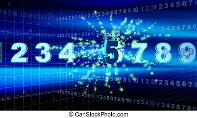 NUMBERS and COUNTDOWN - Computer-rendered animation for...