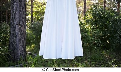 beautiful wedding dresses hanging outdoor - beautiful...