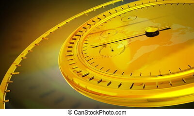 Gold Clock - Computer-rendered animation for current event...