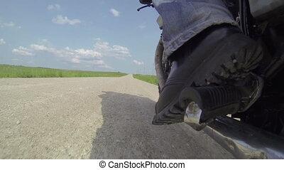 Riding Scrambler Motorcycle Wheel Cam