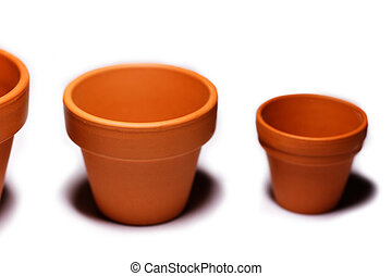 Flowerpots - Photo of empty clay plant or flower pots