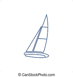 sablon2 - Sailboat vector illustration isolated on a white...