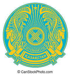 Kazakhstan Coat of Arms - Kazakhstan coat of arms, seal or...