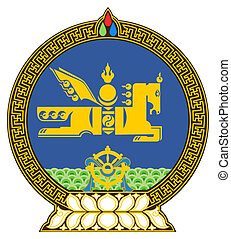 Mongolia Coat of Arms - Mongolia coat of arms, seal or...