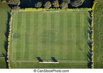 Aerial Football Pitch