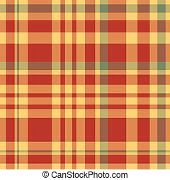 Red and yellow table cloth. Background. Vector illustration