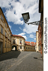 Historical building in center of city Brno