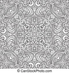 Abstract ethnic sketchy background - Abstract vector...