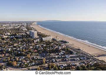 Santa Monica California Aerial