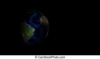 realistic planet earth on a black background
