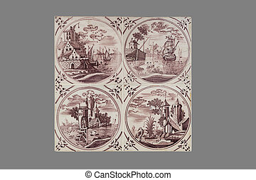 Dutch tile from the 16th to the 18th century - old Dutch...