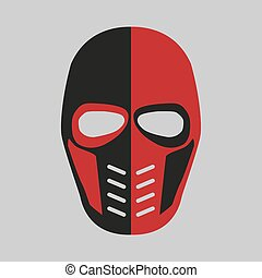 Mask of the comic book supervillain. Vector illustration -...