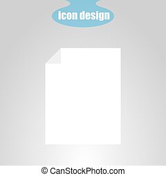 Icon sheet of paper on a gray background. Vector...