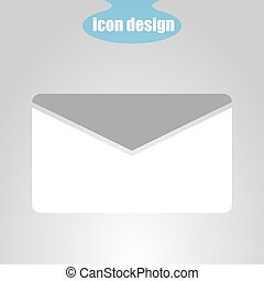 Icon of envelope on a gray background. Vector illustration