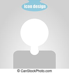 Icon user man on a gray background. Vector illustration