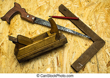 carpenter tools background for designers