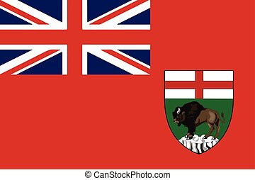 Flag of Manitoba Province, Canada. Vector Format