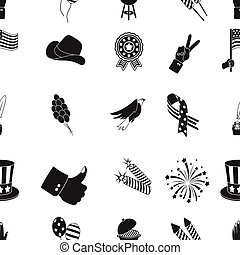 Patriot Day pattern icons in black style. Big collection of Patriot Day vector symbol stock illustration
