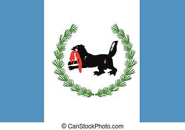 Flag of Irkutsk Oblast, Russia. Vector Format