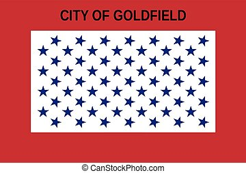 Flag of Goldfield, Colorado, USA. Vector Format