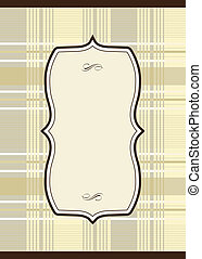 Vector Plaid Pattern and Ornate Frame