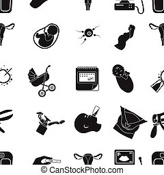 Pregnancy pattern icons in black style. Big collection of pregnancy vector symbol stock illustration