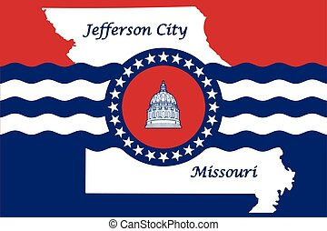 Flag of Jefferson City, Missouri, USA. Vector Format