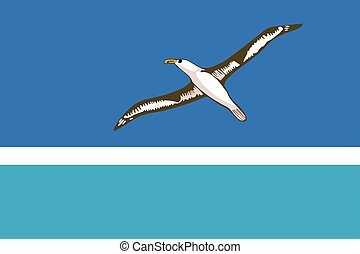 Flag of Midway Atoll (unofficial). Vector Format