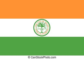 Flag of Miami, Florida, USA. Vector Format
